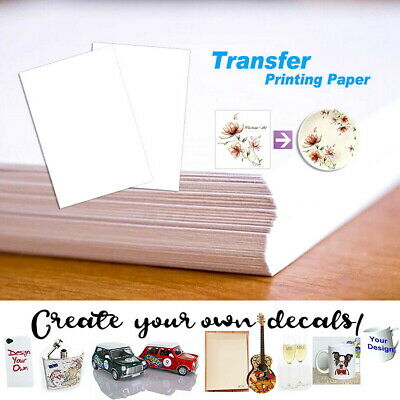 AU15.99 • Buy A4 Waterslide Transfer Decal Paper Inkjet Printer Clear For Candle Soap Wood Cup