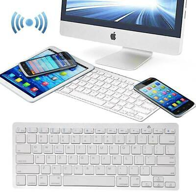 NEW Slim Wireless Bluetooth Keyboard For Apple IMac IPad Android Phone Tablet UK • 11.85£