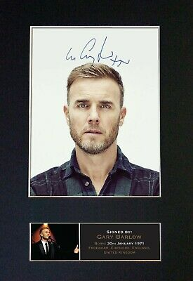 GARY BARLOW Mounted Signed Autograph Photo Print A4 #402 • 18.99£