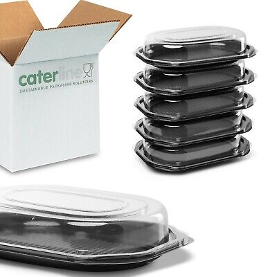 20 X Deep Small Octagonal Catering Platters/Trays & Lids | Sandwiches, Buffets • 15.99£