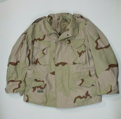 $65 • Buy U.s. Dcu Desert Camo M65 Cold Weather Field Jacket Dated 1996 Size Large