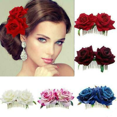 $ CDN3.18 • Buy Bridal Boho Rose Flower Hair Comb Clip Hairpin Wedding Ha Accessories Party I3Q2