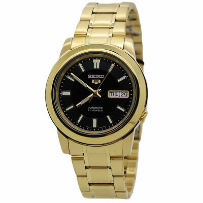 $ CDN153.80 • Buy Seiko 5 Automatic Gold-Tone Stainless Steel Men's Watch SNKK22K1