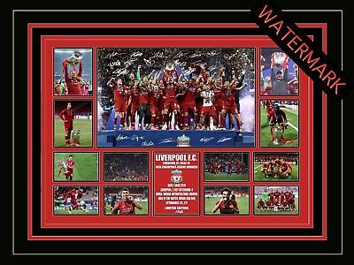 AU94.99 • Buy Liverpool F.c. Limited Edition Signed & Framed Memorabilia - Champions League