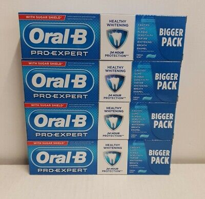 View Details Oral B Pro Expert Healthy Whitening 95ml X 4 Tubes Bigger Tubes  • 10.99£
