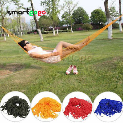Hanging Hammock Chair Portable Garden Swing Seat Tree Travel Camping Poly Cotton • 7.92£