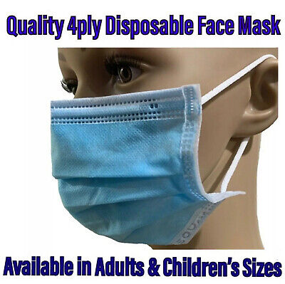 AU34.95 • Buy Face Mask Surgical 4ply Face Mask Disposable Children's Face Mask 4ply BFE 99%