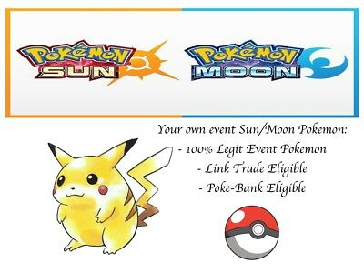 AU2.72 • Buy Pokemon Ultra Sun And Moon Captain Pikachu Event Pokemon With Special Moves
