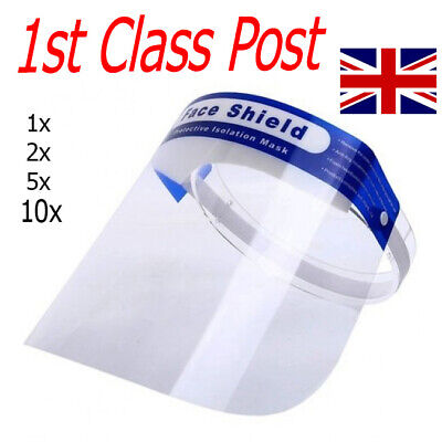 Face Shield Visor Protection Mask Glasses Sheild Safety Clear Cover PPE UK FAST • 4.70£