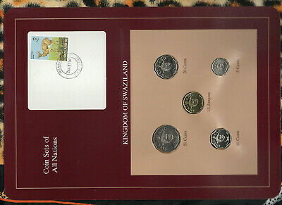 $150 • Buy Coin Sets Of All Nations Swaziland UNC Lilangeni 50,20,10,5 Cent 1996 Rare Red