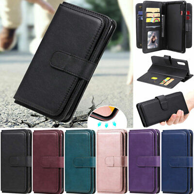 AU16.78 • Buy Ten Cards Wallet Leather Flip Case Cover For Sony Xperia L4 10 II 1 II 5 XZ5 8