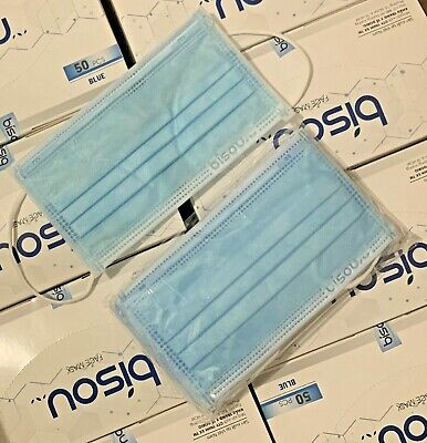 AU35 • Buy Face Mask Surgical 50 4Ply Quality Fast Mask Disposable BFE 99% Free Face Shield