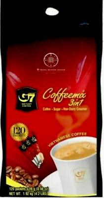 AU45.75 • Buy 1.92Kg Trung Nguyen G7 Instant Coffee 3 In 1 Coffeemix 120 Packets X 16g BB 2022