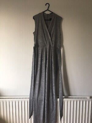 New Phase Eight Occasion Frankie Grey/silver Jumpsuit  Size  10 • 10£