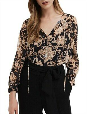 AU24.99 • Buy Witchery Paisley Print Blouse Top 10 New Without Tags