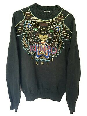 AU100 • Buy Authentic Kenzo Tiger Knitted Sweater/jumper XS Unisex Green