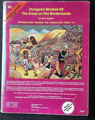 AU20 • Buy Dungeons And Dragons TSR Module B2 #9034 Date 1981  Intro Character Levels 1-3