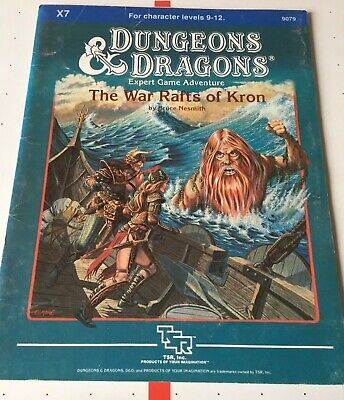 """AU31 • Buy Dungeons And Dragons TSR Module X7 """"War Rafts Of Kron"""" #9079 Date 1984 Very Good"""