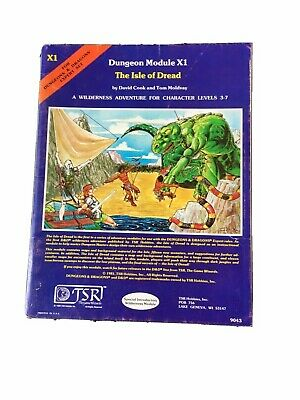 """AU40 • Buy Dungeons And Dragons TSR Module X1 """"Isle Of Dread"""" #9043 Dated 1981 Very Good"""
