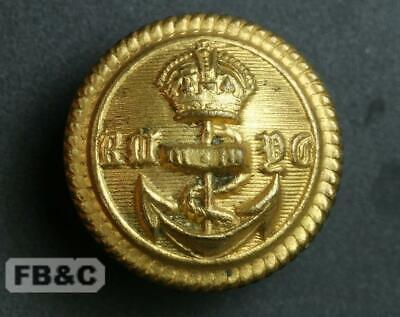 AU4.95 • Buy Royal Melbourne Yacht Club Gilded Brass Button - Kings Crown - 24mm