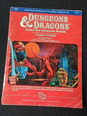 """AU30 • Buy Dungeons And Dragons Module TSR X5 """"Temple Of Death"""" #9069 Dated 1983 Good"""