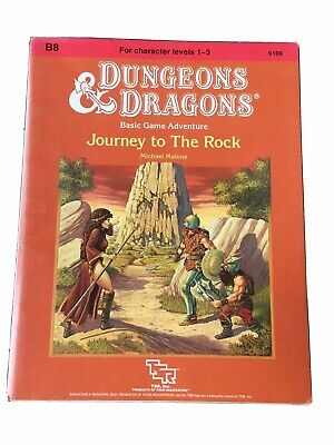 """AU56 • Buy Dungeons & Dragons TSR Module B8 """"Journey To The Rock"""" #9106 Date 1984 Very Good"""