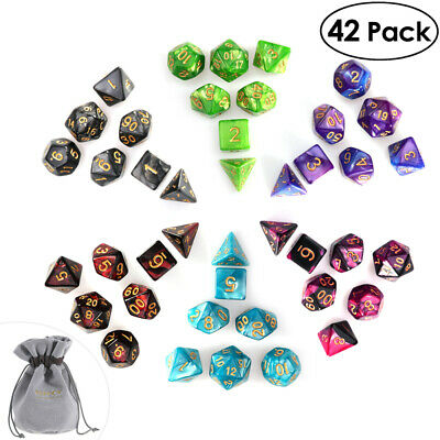 AU19.99 • Buy 42pcs Acrylic Polyhedral Dice For Dungeons And Dragons TRPG Board Game Supplies