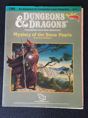 AU60 • Buy Dungeons & Dragons Module TSR CM5  Mystery Of Snow Pearls  9154 W-Insert 1985