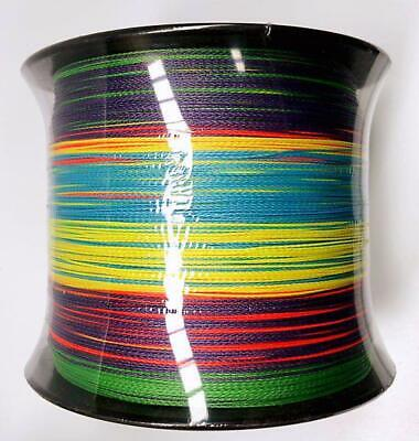AU49 • Buy PE Braid Fishing Line 20LB 1200M Multi Colour 10M Interval Tackle Special Offer!