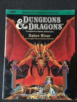 """AU35 • Buy Dungeons And Dragons TSR Module CM3 """"Sabre River"""" #9119  Dated 1984 Good+Quite G"""