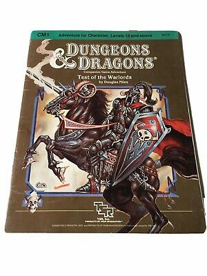 """AU25 • Buy Dungeons & Dragons TSR Module CM1 """"Test Of The Warlords"""" #9117 Dated 1984 VGood"""