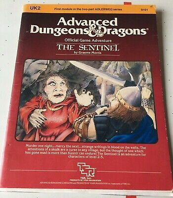 """AU30 • Buy Dungeons And Dragons TSR Module UK2 """"The Sentinel"""" #9101 Dated 1983 Good"""