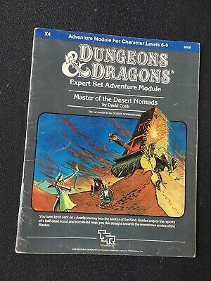 """AU30 • Buy Dungeons And Dragons TSR Module X4 """"Master Of Desert Nomads"""" #9068 Dated 1983"""