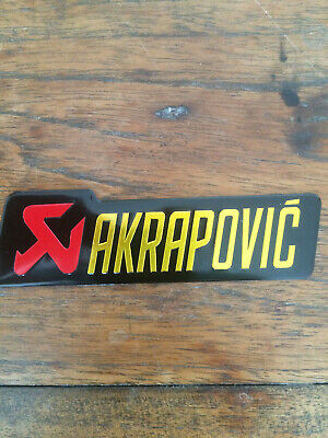 Akrapovic Aluminium Heatproof Exhaust Sticker/Decal  • 4.49£