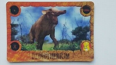 Kelloggs Walking With Beasts 3D Card 2001 Deinotherium • 4.99£
