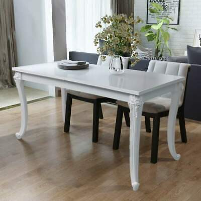 AU220.99 • Buy NEW Dining Table 116x66x76 Cm High Gloss White