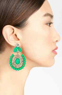 $ CDN95.69 • Buy NWT KATE SPADE NEW YORK 'Capri Garden' Statement Drop Earrings, Green