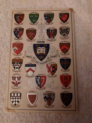 CARD;OXFORDSHIRE;ARMS OF THE COLLEGES OF OXFORD Ca1930; KEBLE;MERTON;ORIEL; • 16£
