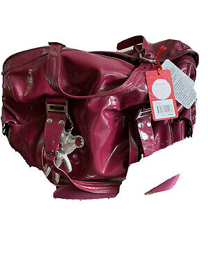 Il Tutto Nico Patent PVC Large Baby Changing Bag In Berry VGC Barely Used • 20£