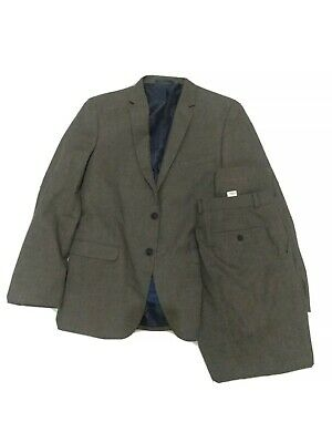 £19.99 • Buy Taylor & Wright Grey Mens Full Suit Jacket 42R Tailored Trousers W36 L31 #2M3