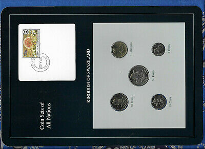 $14.69 • Buy Coin Sets Of All Nations Swaziland W/card 1979 - 1986 UNC 1 Lilangeni 1986