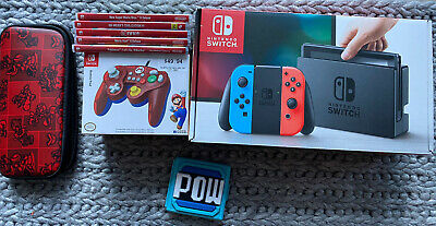 AU395 • Buy Nintendo Switch Blue-Red Console In Box / Games / Controller And More