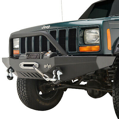 $429.99 • Buy Fit For 84-01 Jeep Cherokee XJ Front Bumper W/ Winch Plate