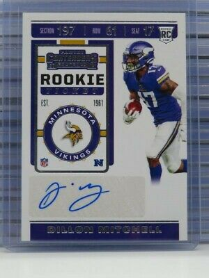 $ CDN1.32 • Buy 2019 Contenders Dillon Mitchell Rookie Ticket Auto Autograph RC Vikings E69
