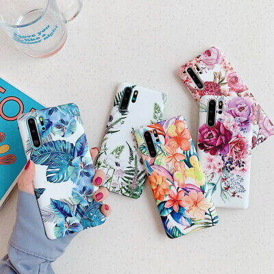 $ CDN5.23 • Buy For Samsung Galaxy S20 S10 S9 Note 10 S8 Matte Color Flower Silicone Case Cover
