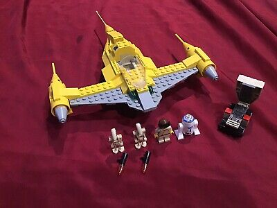 AU69.99 • Buy LEGO 7141 Star Wars Naboo Fighter Complete With Minifigures