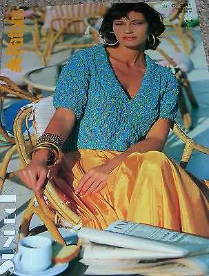 Original Vintage Patons Knitting Pattern Lady's Easy Knit Sundeck Cropped Top   • 1.50£