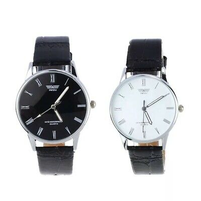 Mens Wrist Watches Watch Quartz Analogue S Steel Leather Casual Fashion Gift Uk • 5.99£
