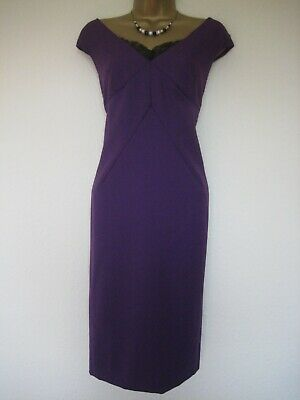 AU44.64 • Buy LK Bennett Dr Hollis Pur-damson Woollen Mix Dress Size 14