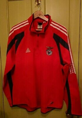 Addidas Football Zippy Top RED Gr8 Condition SL Benfica Portugal Climacool  ⚽  • 19.95£